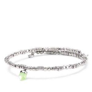 KEEP Green Quartz Coil Bracelet Healing, NWT